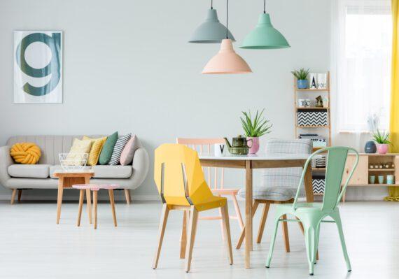 Haal zachte kleuren in huis met een pastel interieur